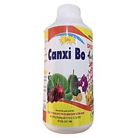 Phân bón CANXI BO cung cấp trung vi lượng cho hoa kiểng và cây ăn trái giúp chống hư rễ quăn lá rụng trái và nứt trái chai 500ml