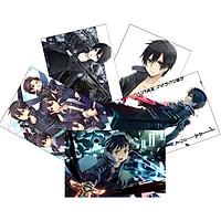 Tranh Poster SET 5 tấm Sword Art Online ANIME MANGA A4 tấm khác nhau