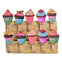 Bộ Kẹp Ảnh Gỗ - Cakes (10 Cái)