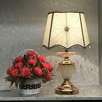 Đèn ngủ để bàn - đèn trang trí phòng ngủ - đèn ngủ pha lê - công tắc đèn led 2 chế độ MB6959