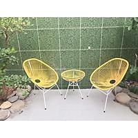 Bộ bàn ghế thư giãn Acapulco (bàn ghế ban công/bàn ghế cafe sân vườn/ bàn ghế mây nhựa)