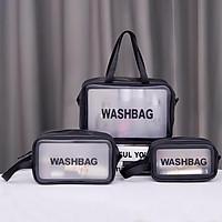 Túi Đựng Mỹ Phẩm, Đồ Trang Điểm Đi Du Lịch Washbag Trong Suốt Chống Thấm Nước Tiện Lợi