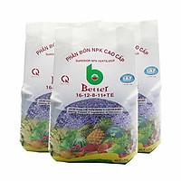 Phân bón Better NPK tím 16-12-8 (1kg/gói) - Combo 3 | Chuyên dùng cây ăn trái, bonsai trồng chậu