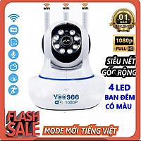 Camera IP Giám Sát Yoosee 360° FULLHD 2.0 Mpx (1920x1080) Siêu Nét BAN ĐÊM CÓ MÀU Kèm Thẻ Nhớ - Hàng chính hãng