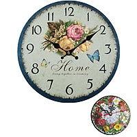 Đồng hồ treo tường Vintage size 30cm DH19 mẫu mới tặng 1 đồng hồ (DH59-12cm) để bàn trang trí