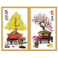 Decal trang trí Mai Đào đón Xuân Combo CBMD-01