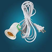 Đui đèn liền công tắc có dây 1m5 chịu nhiệt tốt dùng cho bóng đèn điện cắm trực tiếp vào ổ cắm bóng led tích điện