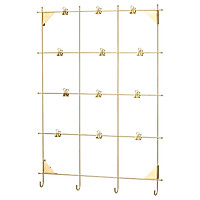 IKEA MYRHEDEN Bảng ghi nhớ với clip màu đồng Memo board with clips brass colour