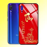 Ốp Lưng Mạ Màu Vàng Ánh Kim cho điện thoại Xiaomi Redmi Note 7 Pro - 0371 7998 TAM04 - Tâm thư pháp - Hàng Chính Hãng