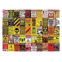 WARNING - Set 50 tấm 22x30cm decal dán tường trang trí decor quán nhà cửa chủ đề Cảnh báo