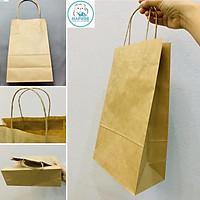 100 túi giấy kraft nhật có quai K2012 19,5x10x33cm
