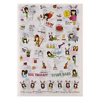 Bộ 6 Tấm Sticker Trang Trí - Nhật Ký Vanilla