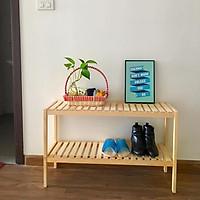 Kệ sách gỗ để đồ đa năng 2 tầng kích thước 80*26*50 cm