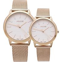 Đồng hồ đôi Julius Dây kim loại Ju1231 Vàng đồng