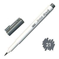 Bút lông đầu cọ viết calligraphy Marvy Artist Brush 1100 - Dark Grey (21)