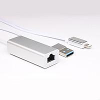 Set bộ chuyển đổi Promax RJ45 Ethernet cổng mạng, USB với nguồn sạc Lightning cho iPhone, iPad ( New Version) - Hàng chính hãng