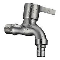 Vòi Nước Lạnh Gắn Tường Bằng Inox 304 Đầu Vòi Tạo Bọt Chống Bắn Nước