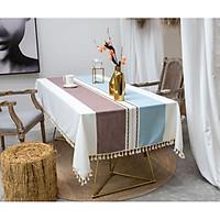 Khăn trải bàn KBCC10 MARYTEXCO chất liệu cotton thêu, đường may tinh xảo, viền tua rua sang trọng phù hợp với những không gian cao cấp, đem lại nét đẹp tinh tế cho căn phòng