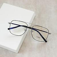 Gọng kính cận nam, gọng kính kim loại, mắt kính vuông Z29180
