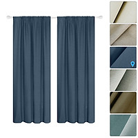 Semi Blackout Curtains 2 Panel Modern Curtains Room Darkening Thermal Insulated Design Grommet Window for Bedroom Living