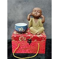Tượng Chú tiểu không nghe (Tặng kèm ly trà gốm Nhật) - CT07