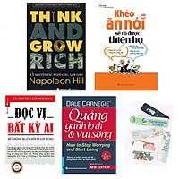 Combo 13 nguyên tắc nghĩ giàu làm giàu +khéo  ăn khéo nói sẽ có được thiên hạ+đọc vị bất kỳ ai+quảng gánh lo đi & vui sống (bản đặc biệt tặng kèm bookmark AHA)