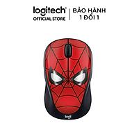 Chuột không dây Logitech M238 Spider Man - Màu đỏ - Hàng chính hãng