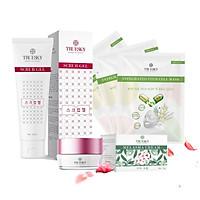 Bộ sản phẩm làm mờ nám da mặt Truesky V04 gồm 1 kem nám da Melasma Cream 15g + 1 gel tẩy tế bào chết Scrub Gel 60ml + 3 miếng mặt nạ trắng da Truesky