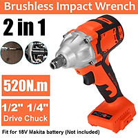 Replace Makita Brushless Cordless Impact Wrench 1/2'' for 18V battery