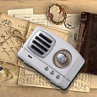 Retro Hifi Stereo Bluetooth V4.1 Speaker Portable Wireless Vintage Speaker Built-in Mic Support Memory Card
