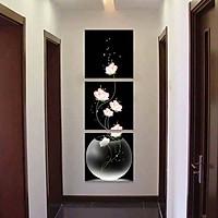 Tranh treo tường, tranh trang trí PP_ NT349 bộ 3 tấm ghép