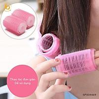 6 Lô uốn mái tự dính size to không dùng nhiệt, không gây hại, tóc uốn xoăn tự nhiên - CBQT0009