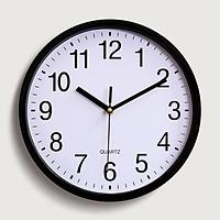 Đồng hồ treo tường 25cm Quartz nền trắng basic