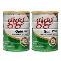 Combo 2 hộp Sữa Bột Gigo Gain Plus 900g - DD hàng ngày cho người gầy