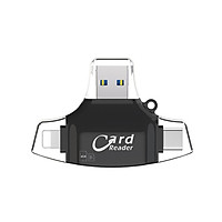 SD Card Reader 4 in 1 SD/TF Card Reader Adapter Replacement for iPhone/Android/PC