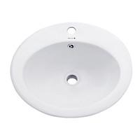 Chậu lavabo rửa mặt dương vành BS-202 sản phẩm chỉ gồm phần sứ (vòi gắn lên thành lavabo)