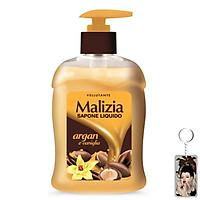 Nước rửa tay tinh dầu Argan và vani Malizia Liquid Soap Argan And Vanilla 300ml tặng kèm móc khóa