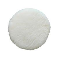 1Pcs Wool Buffing Pad Wax Polishing Buffer Car Polisher Ball Kit with Magic Sticker for Polishing Cream