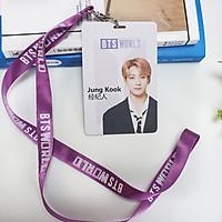 Card JUNGKOOK BTS kèm dây đeo BTS WORLD