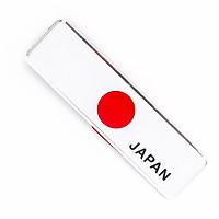 Sticker metal hình dán cờ Nhật Bản Japan 10.5x3cm
