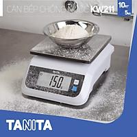 Cân điện tử nhà bếp CHỐNG NƯỚC TANITA KW211,5kg(0.5g),10kg(1g) (Chính hãng Nhật Bản),Cân thức ăn 10kg,Cân thực phẩm 5kg,Cân nhà bếp 10kg,Cân Nhật,Cân trọng lượng,Cân chính hãng, Cân thực phẩm, Cân thức ăn, Cân chính xác, Cân làm bánh - 10kg/1g