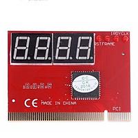 Card test Mainboard 4 số dùng cho main có khe cắm PCI Đỏ