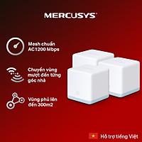 Bộ Phát Wifi Mesh Mercusys Halo S12 (3-Pack) Chuẩn AC Tốc Độ 1200Mbps - Hàng Chính Hãng
