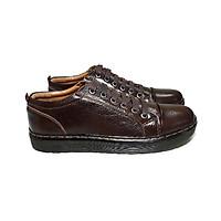 Giày tây nam da bò thật cao cấp, đường may tỉ mỉ đế cao su ép nhiệt chắc chắn có rãnh chống trượt-HS017