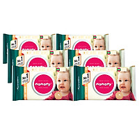 Combo 6 Gói Khăn Giấy Ướt Mamamy 100 Tờ Không Mùi (100 Tờ x 6 Gói)