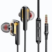 Tai nghe QKZ CK3 - 4 loa ( 4 driver ) Bass mạnh có micro và tăng giảm âm lượng - Hàng chính hãng
