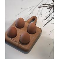 Khay đựng trứng 4 chỗ đựng, gỗ thích Blu Legno