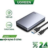 Hộp đựng ổ cứng UGREEN CM301 - 2.5 3.5 Inch 6Gb- Cổng Type-C gắn PC - Cổng Usb 3.1 Gen2 - Hàng nhập khẩu chính hãng