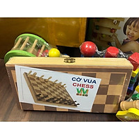 Bàn Cờ Vua đồ chơi gỗ thông minh sang trọng giành cho bé từ 5 tuổi trở lên