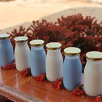 Combo 10 chai thủy tinh đựng sữa nắp vàng_200ml